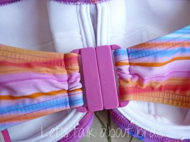 Midnight Grace Jasmine Underwire Twist Bandeau Bikini Top, clasp closed