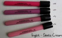 Inglot Sleeks Cream #94, #96, #108, #109