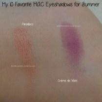 Paradisco and Crème de Violet M·A·C eyeshadows swatches