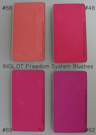 INGLOT - Freedom System Blushes 48, 62, 68, 69