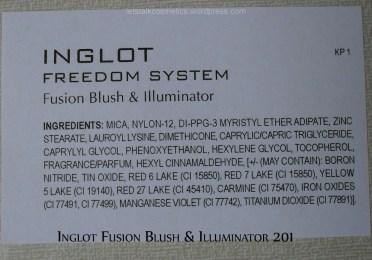 Inglot - Fusion Blush & Illuminator #201
