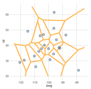 Creating Voronoi Diagrams with ggplot – Let's Talk Data