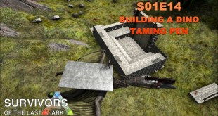 Let's Play Modded ARK: Survival Evolved – Modded – S1E14 – Building a Taming Pen