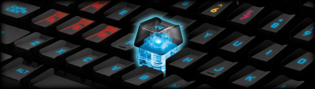 The G910 has Romer-G Switches specially designed for Logitech