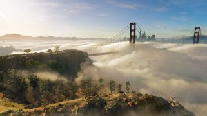 Clouds in the San Francisco Bay - Watch Dogs 2
