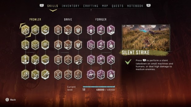 Of course you can unlock new skills in Horizon New Dawn too!