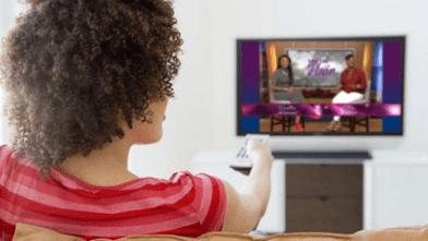 BW watching TV - Let's Talk Hair