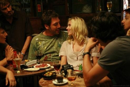 Javier Bardem and Scarlett Johansson star in Woody Allen's Vicky Cristina Barcelona.