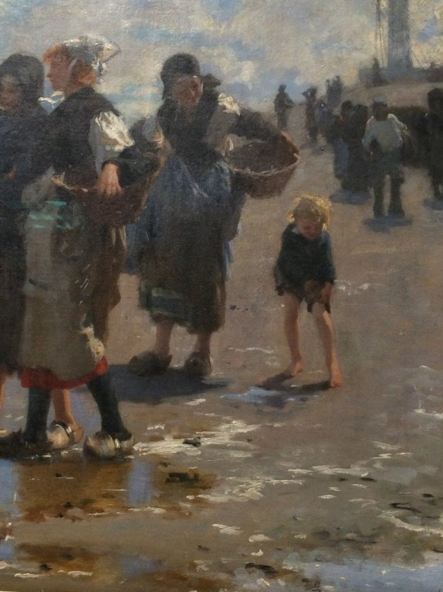 John Singer Sargent, En Route Pour la Peche (Setting Out to Fish), 1878, detail, o/c, Corcoran Collection