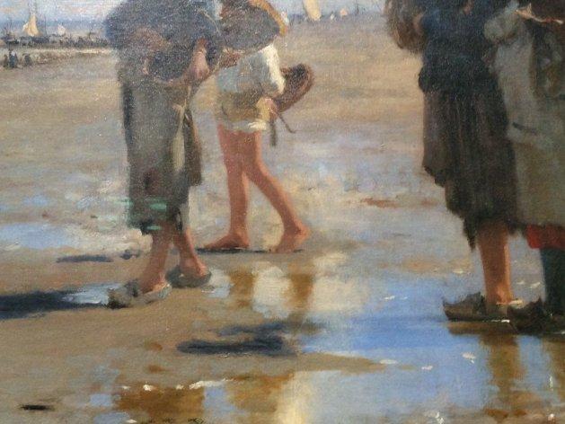 John Singer En Route pour la Peche (Setting Out to Fish), 1878, detail, o/c, Corcoran Collection