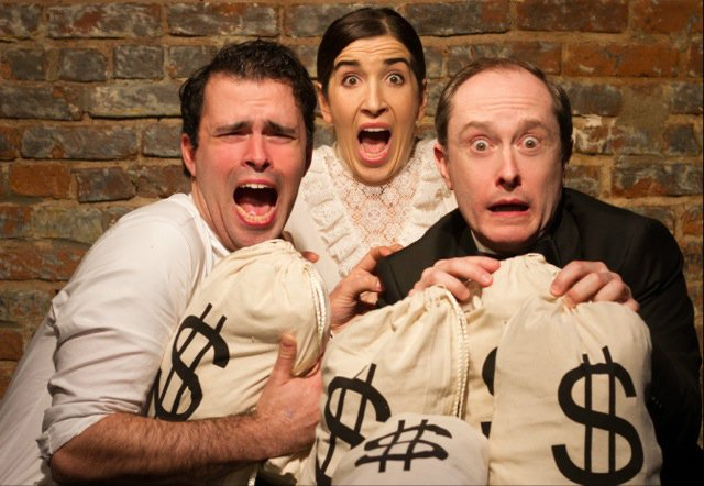 Jack Ultrata, Sarah Sirota and Andrew Sellon in LIKE MONEY IN THE BANK by Jerry Polner, directed by Shana Solomon