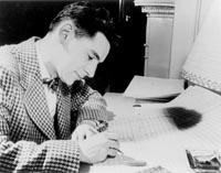 Leonard Bernstein composing. Photo courtesy of the Leonard Bernstein Office, Inc.