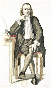 The playwright ponders ... Pierre Corneille by an unknown 17th century artist. Bibliotheque Nationale de France.