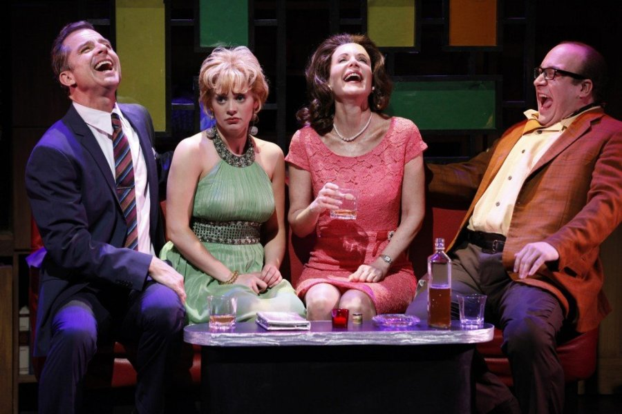 L-R Maxwell Caulfield, Jennie Barber,Lois Robbins, Anthony Reimer in Cactus Flower. Photo: Carol Rosegg