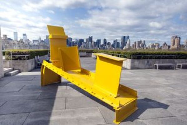 "Midday, 1960, Anthony Caro, painted steel, 7' 73/4"" x 37 3/8"" x 12' 1 1/4"" (233.1 x 95 x 370.2 cm), collection of the Museum of Modern Art, NY, photo: MMA"