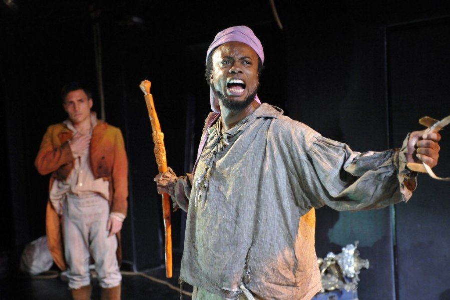 L-R Raphael De Mussa as Spanish Captain Benito Cereno and James Jorsling as Babu. Photo: Stephanie Berge