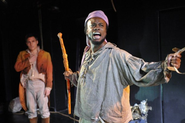 Who's in charge here?L-R Raphael De Mussa as Spanish Captain Benito Cereno and James Jorsling as Babu.  Photo: Stephanie Berge