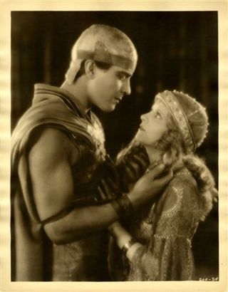 "Ramon Novarro and May McAvoy, for Ben Hur attributed to Warren Lynch, 1925, geltin silver print, 13 x 10"". Photo: Grolier Club"