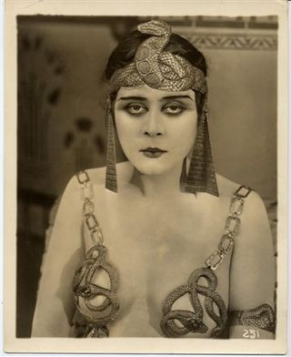 "Theda Bara as Cleopatra, by Albert Witzel, 1917, gelatin silver print, 10 x 8"". Photo: Grolier Club"