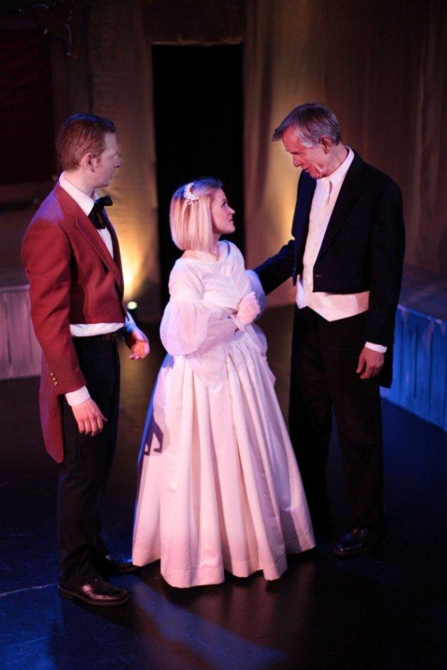 L-R Eyal Scherf as Rodolphe, Hayley Hoffmeister as Emma, Roger Rathburn as Charles. Photo: Andrew Nuzhnyy