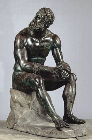 Boxer at Rest, Greek bronze sculpture