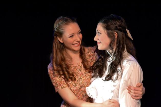 L-R Sara Hymes as Marie and Morgan DeTogne as Julie. Photo: Samantha Mercado-Tudda