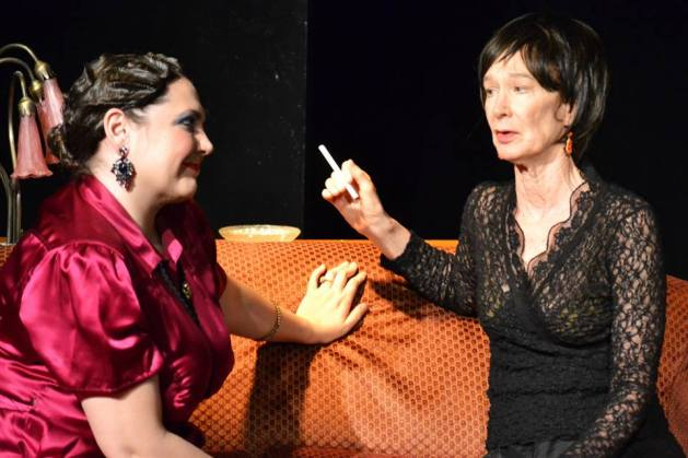 L-R Kim Rogers as Agatha Christie and Penny Lynn White as Alice B. Toklas.  Photo: Samantha Mercado Tudda
