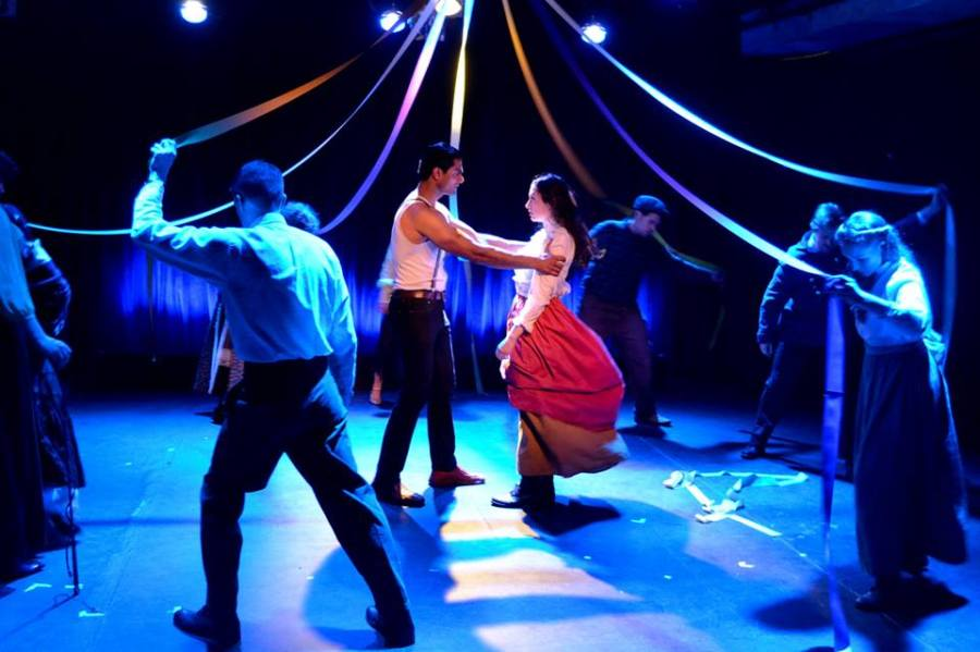 The carousel. Center L-R Gerrard Lobo as Liliom and Morgan DeTogne as Julie. Photo: Samantha Mercado-Tudda