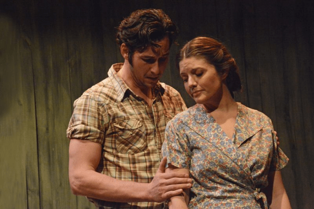 Bray Wilkins and Sarah Beckham Turner in SLOW DUSK. Photo Buckman