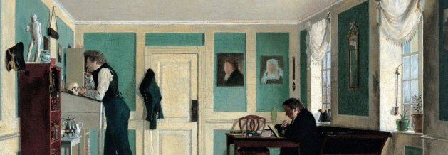 Wilhelm Bendz   Interior from Amaliegade  Artist's Brothers