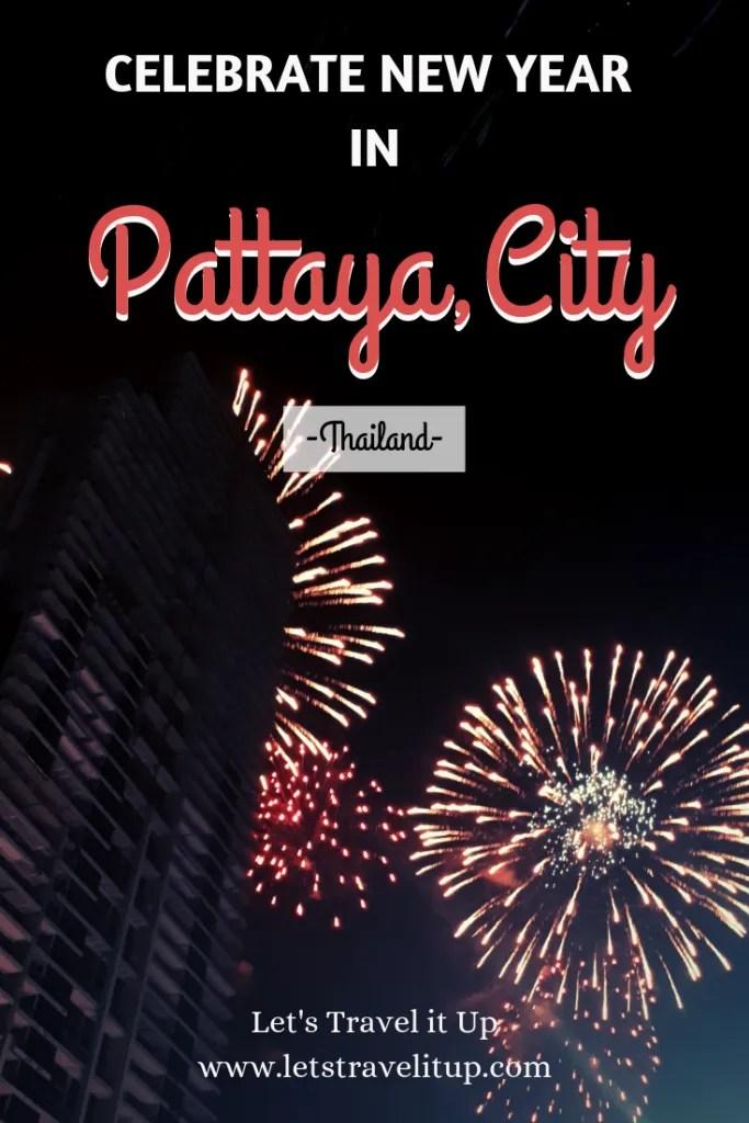 celebrating new year in Pattaya City, Thailand