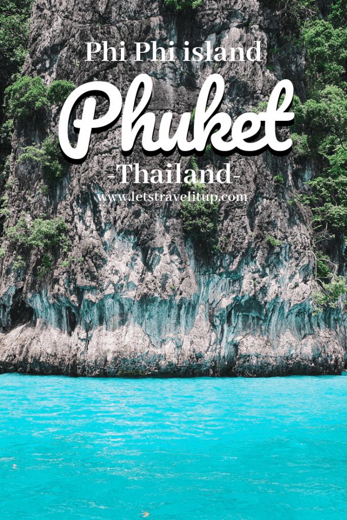 Phi Phi Island and Phuket pinterest image