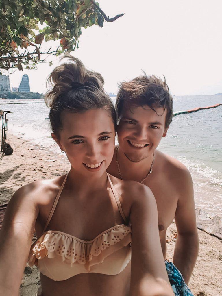 Chane and Jonathan enjoying the beach