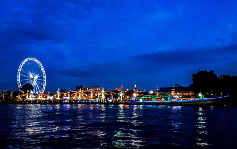 Asiatique market in Bangkok Thailand for a romantic night out