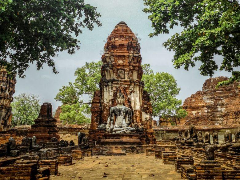 Ayuttaya in Thailand. An old town