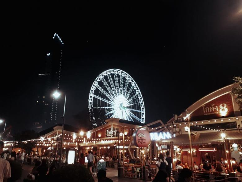 Asiatique weekend market at the riverfront in Bangkok Thailand