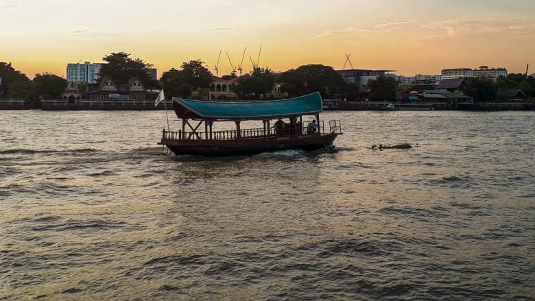 Boat on the river of Chao Phraya river