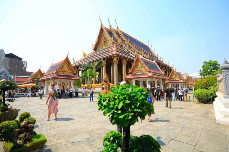 the grand palace in Bangkok Thailand, one of the most iconic attractions in Bangkok.