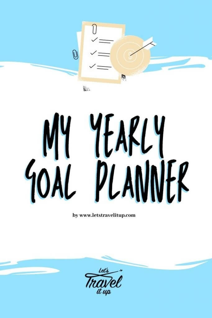 My yearly goal planner for setting goals and achieving goals.