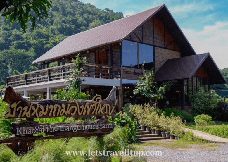 The beautiful Khao Yai Mang house farm, shop and restaurant