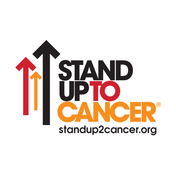 Stand Up To Cancer Logo In Red, Orange, And Black