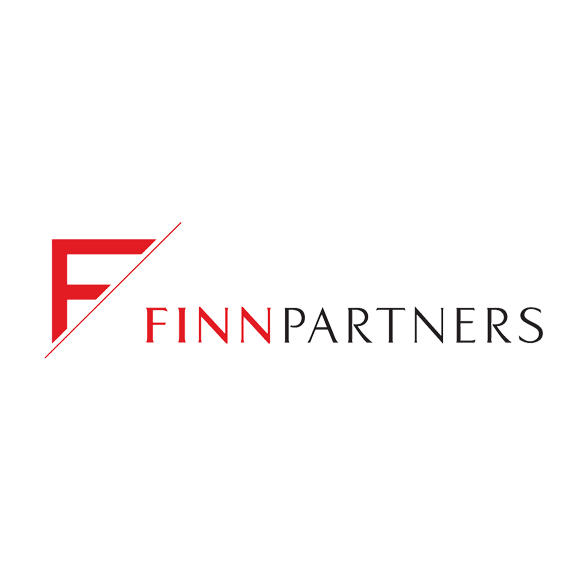 Finn Partners logo in red and black