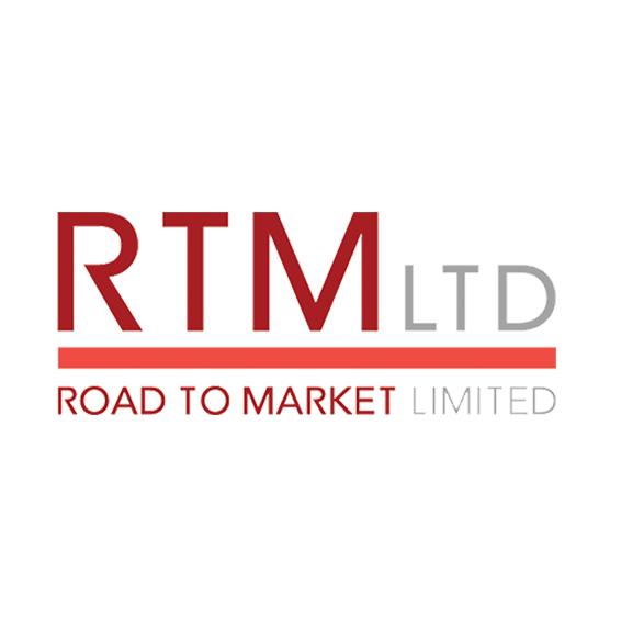 RTM Logo In Red, Coral And Gray