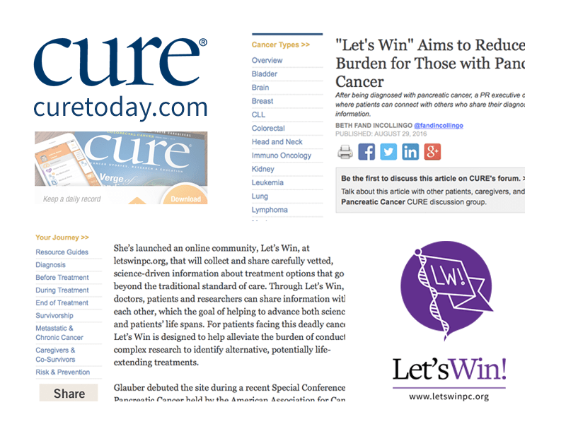 """CURE: """"Let's Win"""" Aims to Reduce Research Burden for Those with Pancreatic Cancer"""