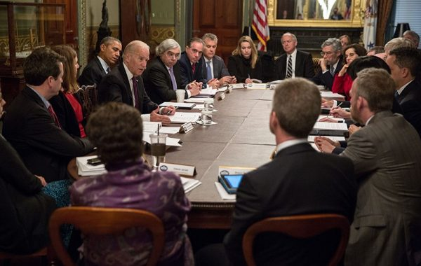 Cancer Moonshot meeting with Vice President Joe Biden and President Barack Obama