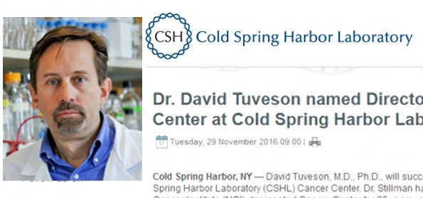 Dr. David Tuveson Named Director, NCI-Designated Cancer Center At Cold Spring Harbor Laboratory