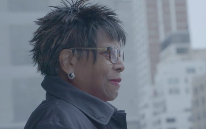 Yolanda L. Jackson In Profile Looking Out On New York City.