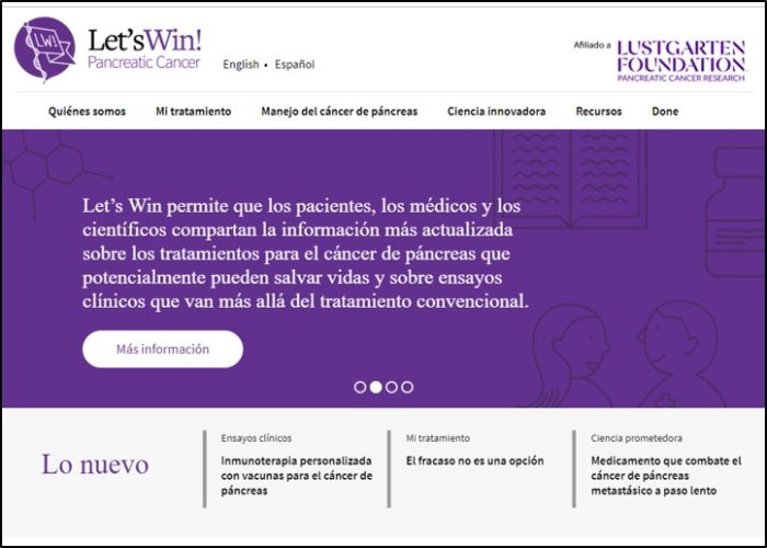 Let's Win Spanish Website, Second Slide Of Home Page
