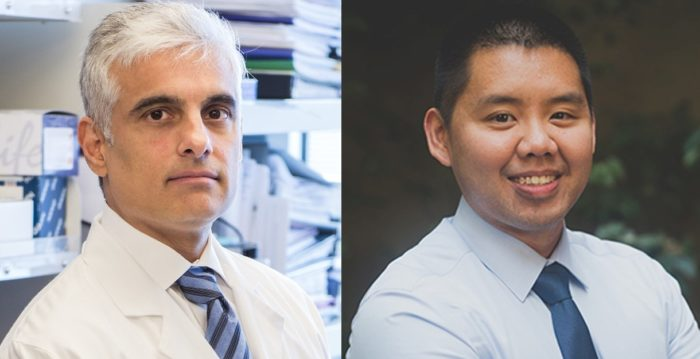 photos of Dr. Sunil Hingorani (left) and Dr. David Zhen (right)