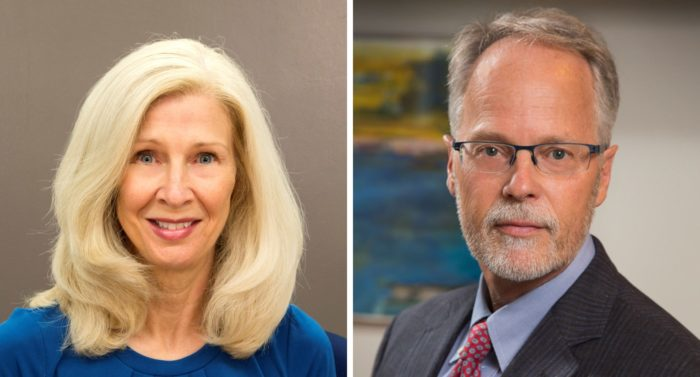 photo of Annette Stanton, Ph.D., (left) and Michael Irwin, M.D. (right)
